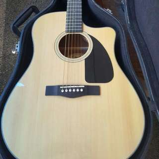 FENDER CD-60CE Dreadnought Cutaway Acoustic Guitar( Natural Wood)