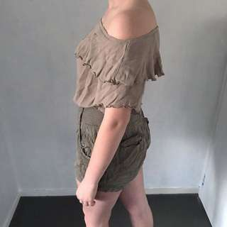 *Price Negotiable* Khaki off the shoulder top