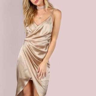*Price Negotiable* Satin Wrap Dress