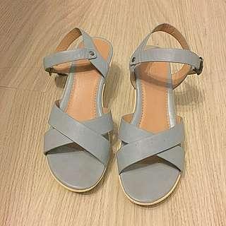Parisian Powder Blue Sandals