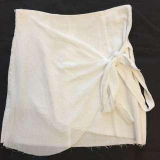 White Wrap Skirt Size Small