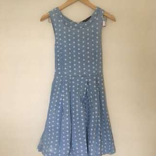 Dorothy perkins denim polka dress