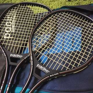 Squash壁球拍 x2 連袋bag