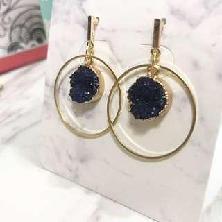 Gemtle agate geometric earrings