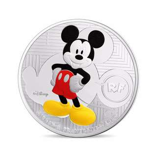 Mickey Through The Ages - 88th Anniversary 0.714 oz Silver Proof Coin (€10)