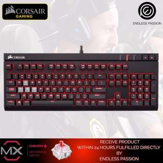 Corsair STRAFE Mechanical Gaming Keyboard, Red LED, Cherry MX Red Switch