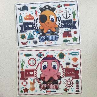 🆕 A4 Plastic Folders - Fish & Co (Octoboy & Octogal)