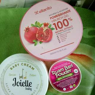bedak ruam, baby cream Joielle, moisture elianto