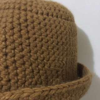 超人氣!駝色針織漁夫帽