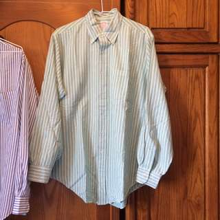 brooks brothers striped shirt stripe cdg comme des garcons 條紋 襯衫 美國製 muji uniqlo gap