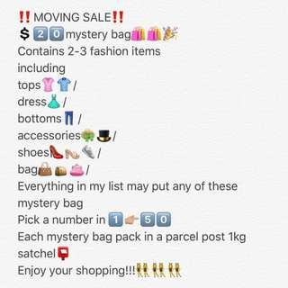 MOVING SALE 🎁MYSTERY BAG