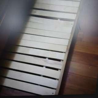 詩肯柚木單人子床+床墊