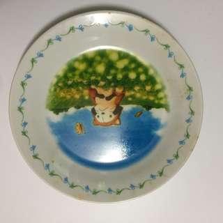 日本進口 世界名作劇場 小浣熊餅乾系列陶瓷盤
