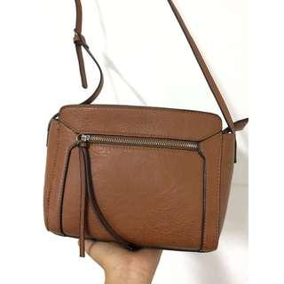 Stradivarius Sling Bag Brown