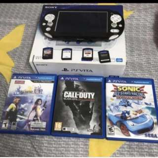 Ps vita white with 7 games
