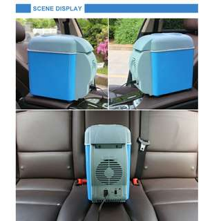 7.5L 12v Mini Fridge Cooler Warmer Blue Car Small Refrigerator Cooler Box