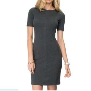 Atoms&here charcoal bodycon dress