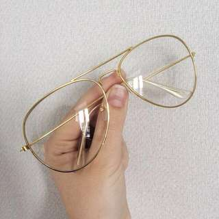 Clear Aviator-Style Glasses