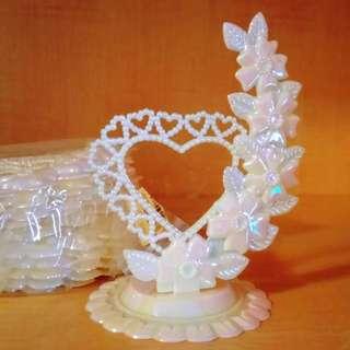 🚚 婚禮佈置小物 DIY材料  珠光愛心擺飾