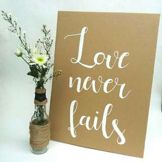 Hand-Painted Wedding Signages