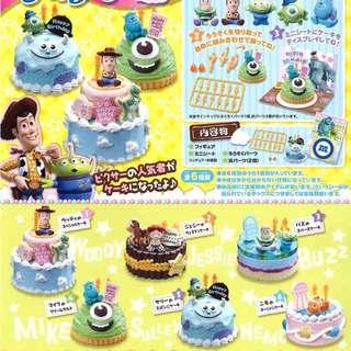 Re-ment 2014 Pixar Disney cake 蛋糕原盒