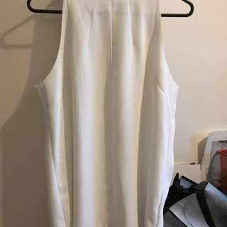 Zara white halter top office size m