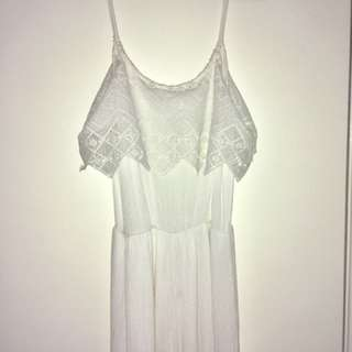 White jumpsuit, size 8, worn once.