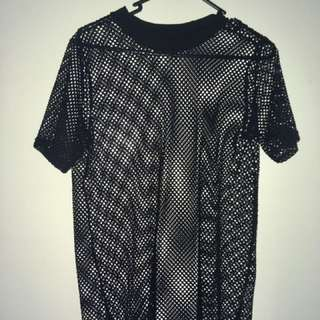 Mesh over sized t shirt, size small.