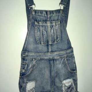 Denim overalls, size UK 8