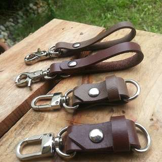 Leather keychains Long