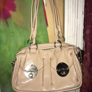 MIMCO mini TURN LOCK handbag BEIGE