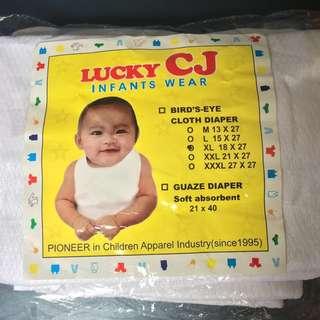 CJ Lampin Bird's Eye Cloth Diaper XL - 6pcs