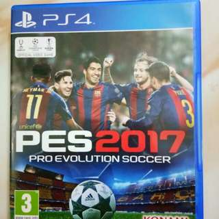 Kaset PS4 : PES 2017 (Original)