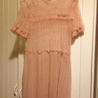 Sheer Pink Topshop Dress