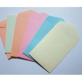 Handmade seed envelopes or money coin envelopes pastel colours