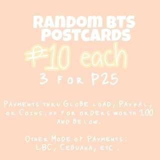 BTS Postcards (Kpop)