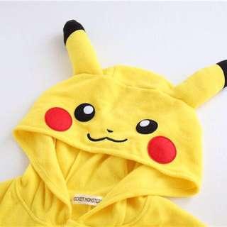 🈹日本 任天堂 正品 比卡超 Pikachu Pokémon POCKET MONSTERS 搖絨粒 角色扮演 遊戲服  卡通 連身衣 Halloween 👻 哈囉喂 萬聖節 聖誕節 Cosplay Party必備 超可愛 男女合用 全場獨家 即日發貨