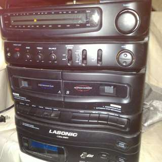 CD,FM player+laser disc.function