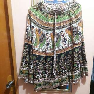 Midi Skirt (Boho print)