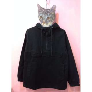 [彩色櫥窗]zipper,vintage非轉賣planet,kouzou神秘客連帽素黑口袋T