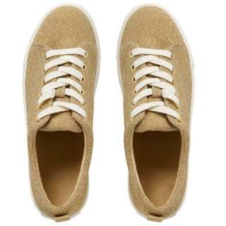 Seed Heritage And I Glitter Sneaker In Gold Size 40