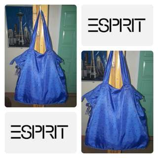 ESPRIT Blue Polka Dots Nylon Bag