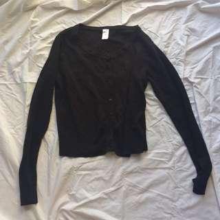 Black Cardigan Size Medium