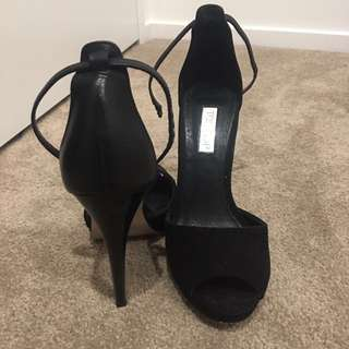 Topshop black suede heels
