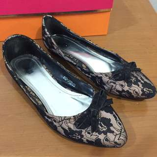 FLAT SHOES LACE BRAND MITJU