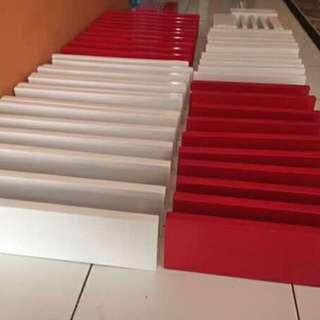 Rak dinding minimalis 1 set (3 buah)