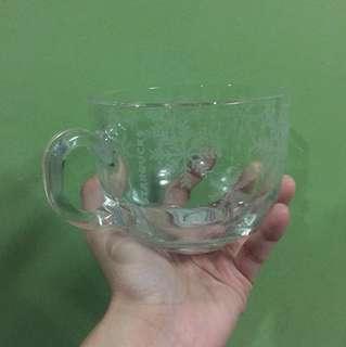 starbucks snowflakes glass mug