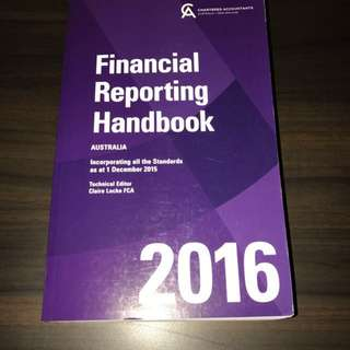 FINANCIAL REPORTING HANDBOOK AUS 2016 - Locke Wiley