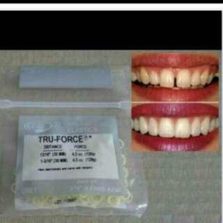 Teeth true force Gaps Bands Teeth Braces from dental clinic