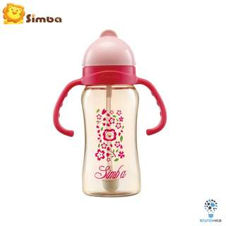 Simba PPSU Training Cup Straw Bottle | Pink Cherry Blossoms [SI-8603]